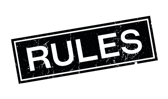 Rules rubber stamp